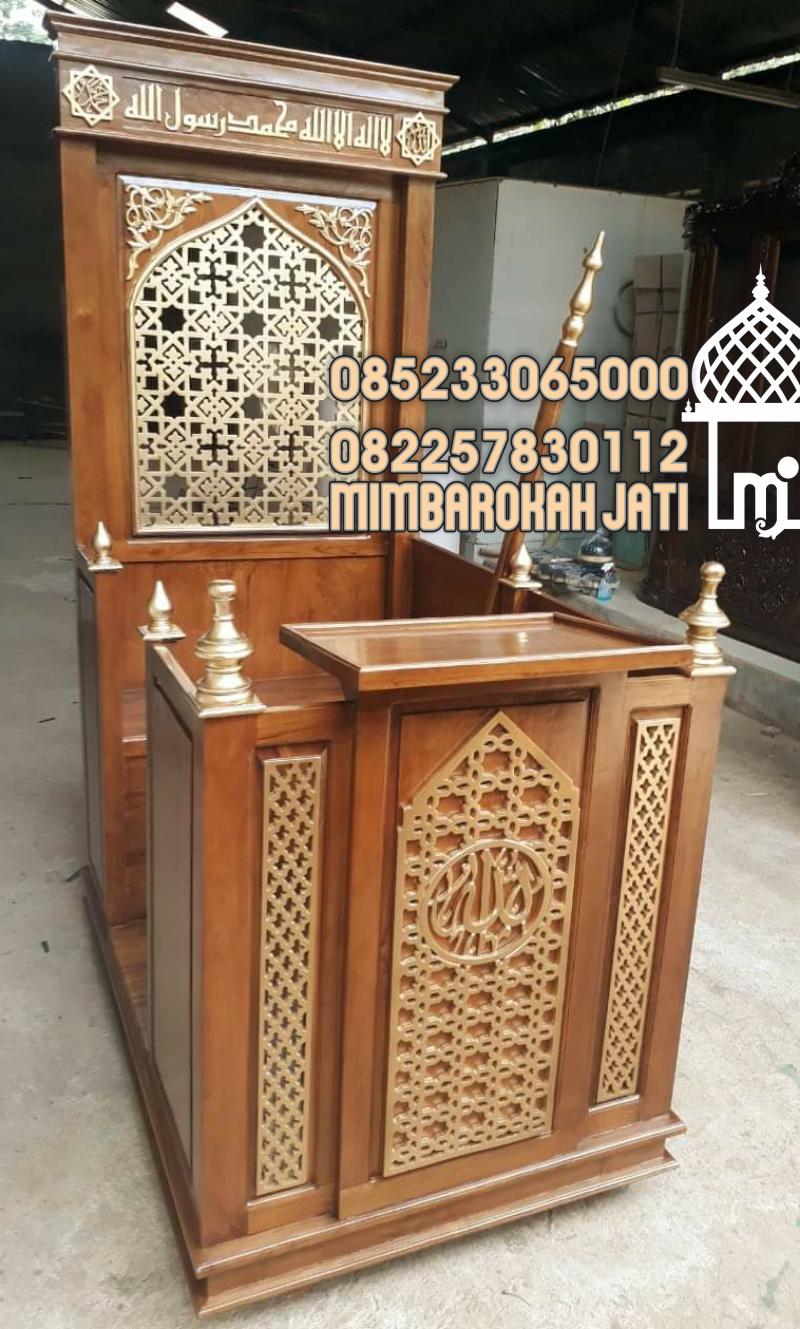 Mimbar Minimalis Masjid Moderen Bekasi