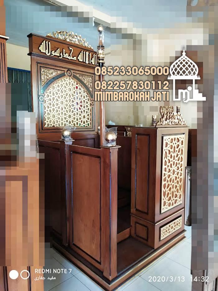 Mimbar Minimalis Masjid Sederhana Jakarta Semarang Cirebon