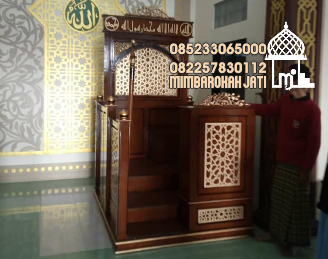 Mimbar Minimalis Masjid Tanpa Atap Kubah Menteng