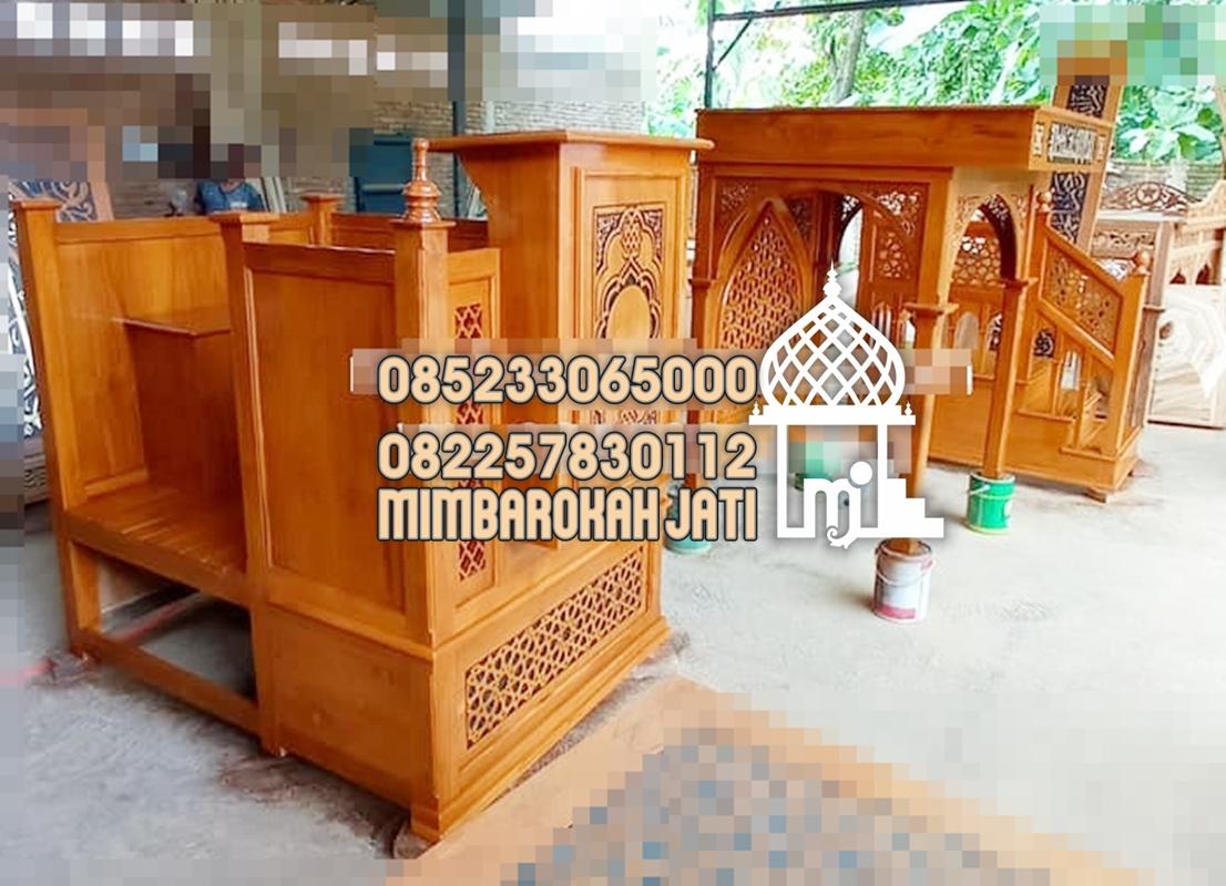 Mimbar Jati Ornamen Arabic Masjid Agung Kupang