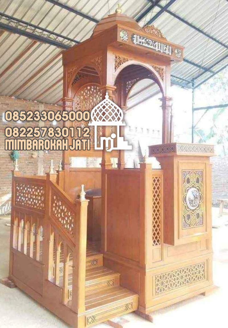 Mimbar Jepara  GRC Masjid Daerah Ketapang