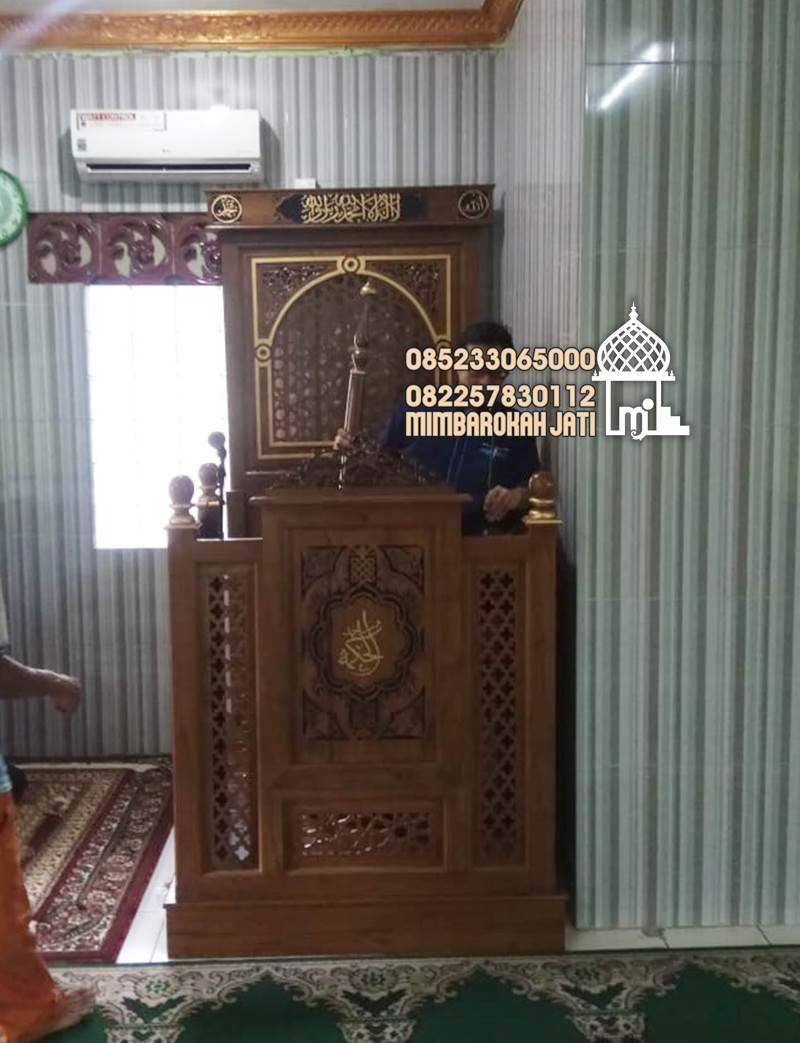 Mimbar Jepara Ornamen Arabic Masjid Wilayah Kudus