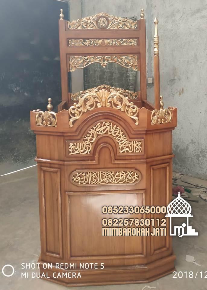 Mimbar Jepara Ornamen GRC Masjid Wilayah Singkawang