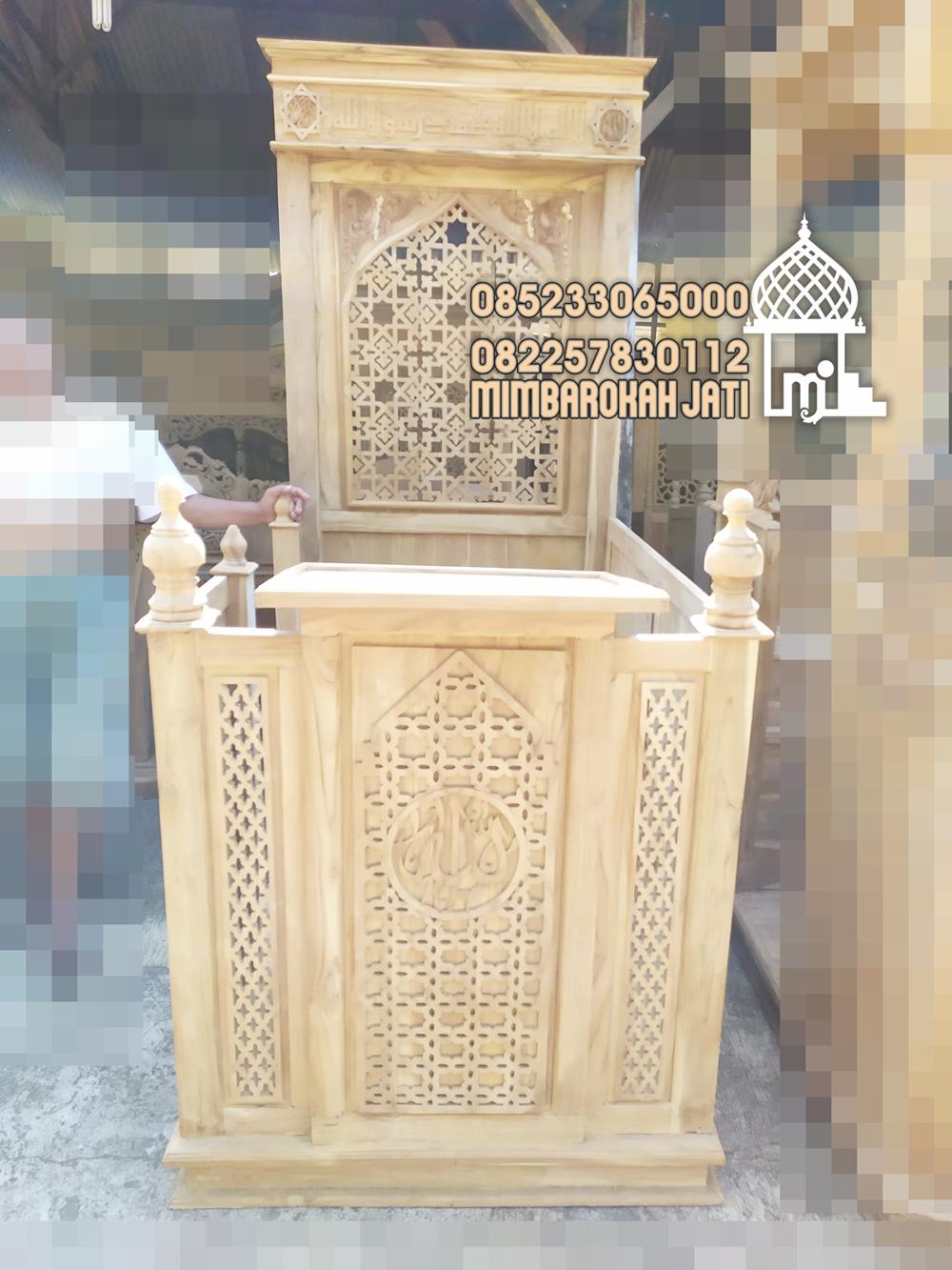 Mimbar Jepara Ornamen Marocco Masjid Agung Ngasem