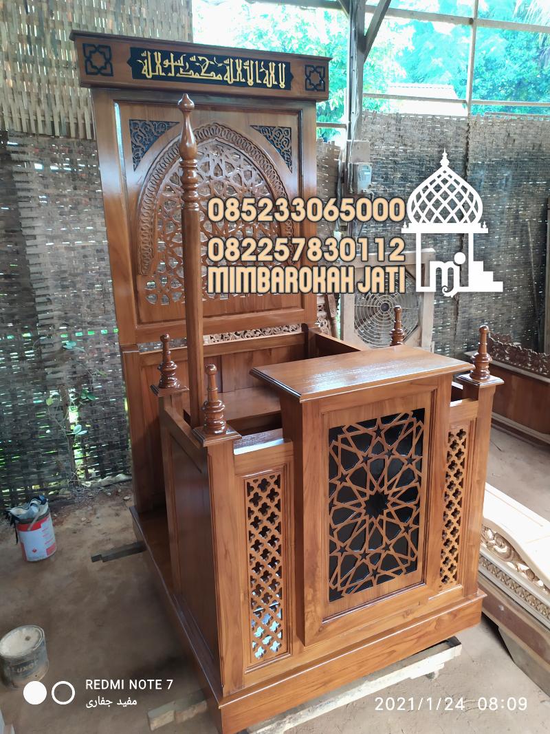 Mimbar Jepara Ornamen Marocco Masjid Besar Cirebon