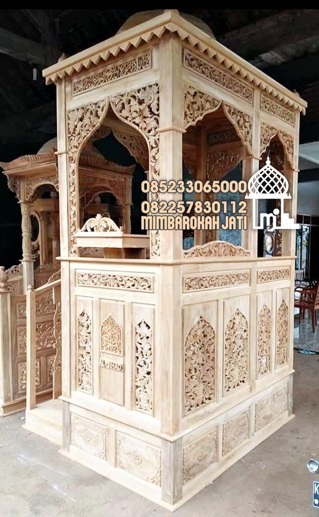 Mimbar Masjid Ornamen Arabic Masjid Daerah Tulungagung Mimbar Masjid Atap Kubah