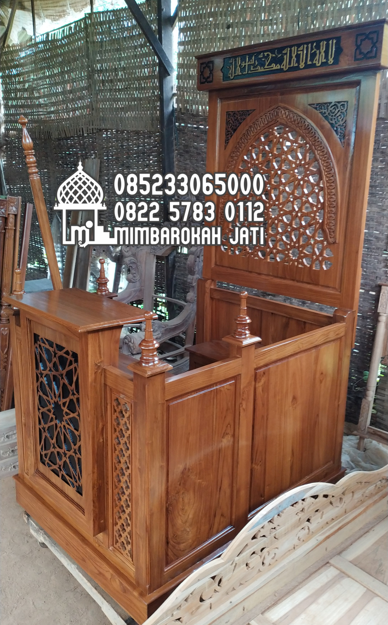 Mimbar Masjid Ornamen Arabic Masjid Wilayah Pasuruan