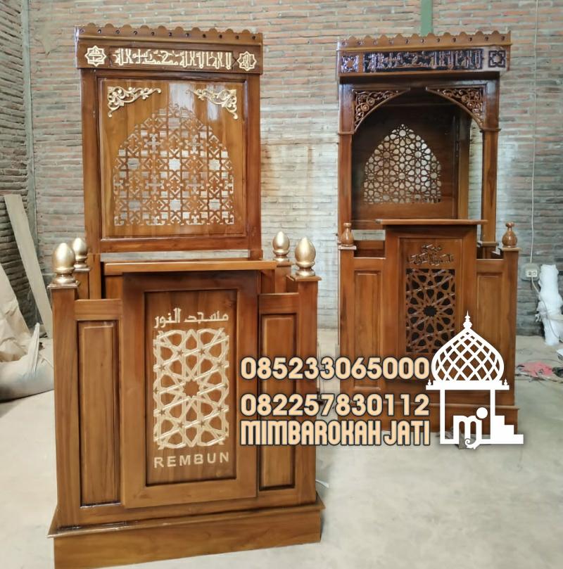 Mimbar Masjid Ornamen Marocco Masjid Wilayah PamekasanMimbar Masjid Ornamen Marocco Masjid Wilayah Pamekasan