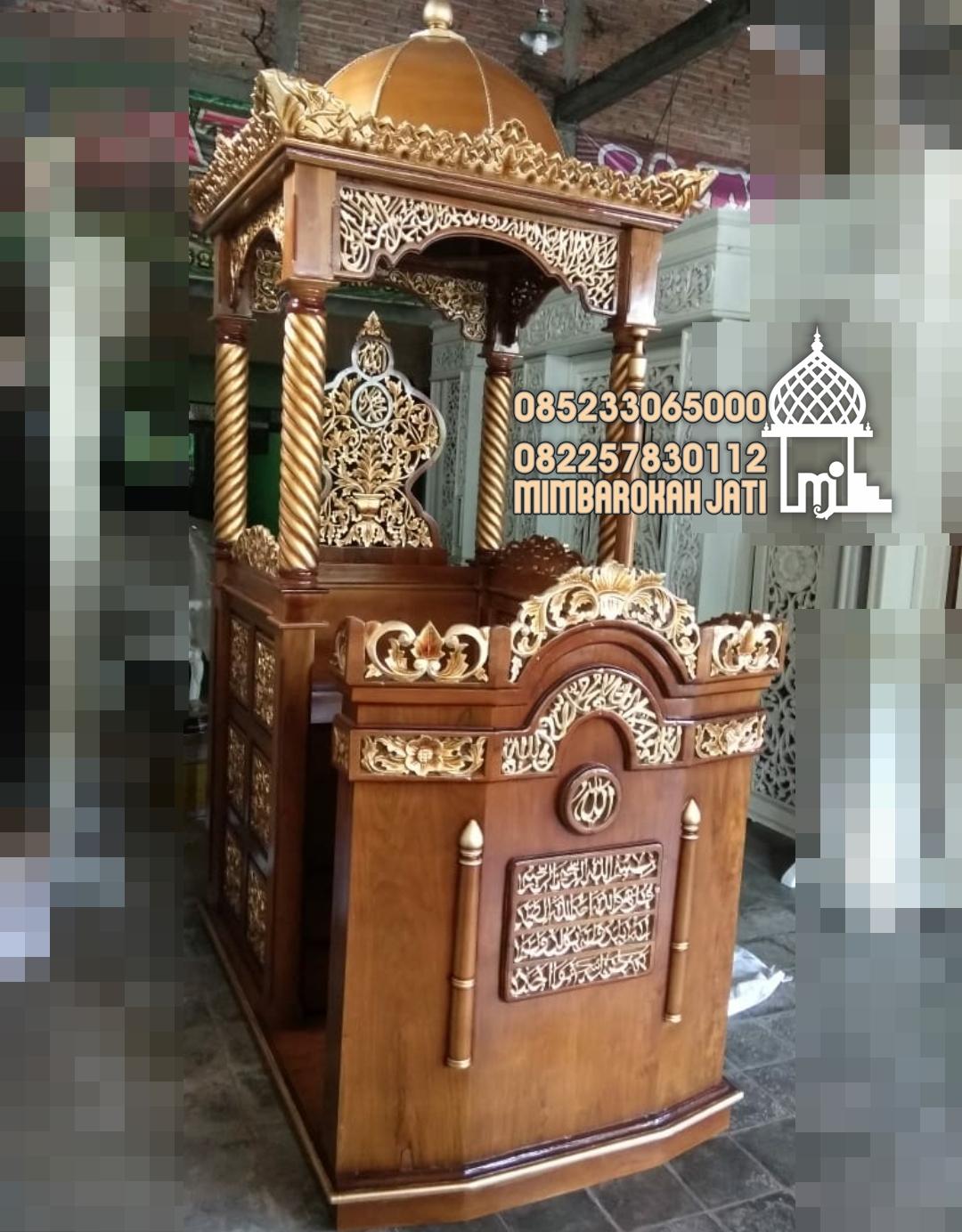 Mimbar Masjid Ornamen Ukiran Masjid Wilayah Kuningan