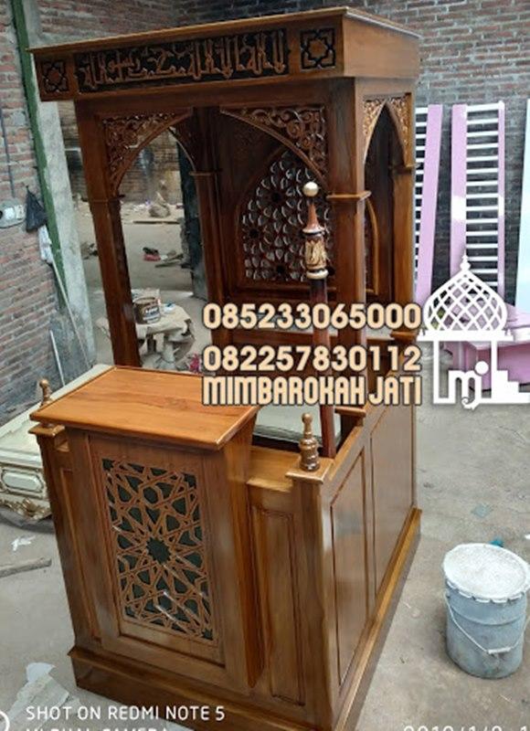 Mimbar Minimalis Ornamen Arabic Masjid Wilayah Kutai Timur
