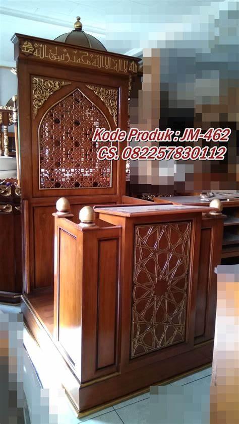 Mimbar Minimalis Ornamen CNC Masjid Agung Sragen