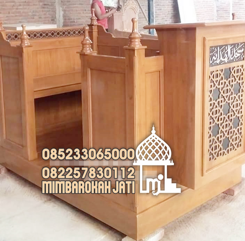 Mimbar Minimalis Ornamen GRC Masjid Wilayah Sumba Timur