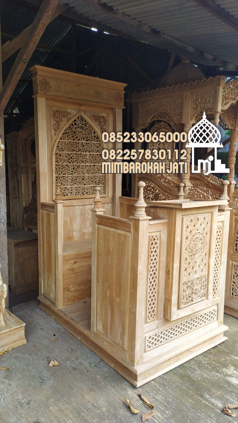 Mimbar Minimalis Ornamen Marocco Masjid Besar Tangerang