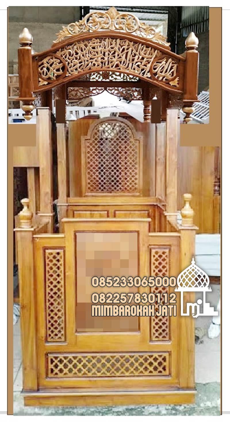 Mimbar Podium Ornamen Arabic Masjid Agung Sampang