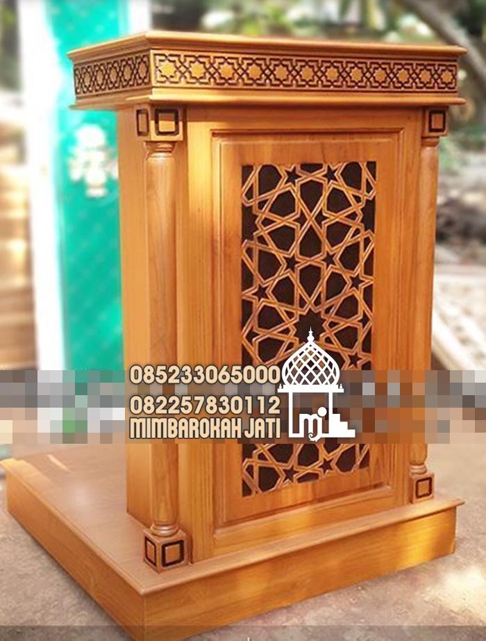 Mimbar Podium Ornamen Marocco Masjid Daerah Malang