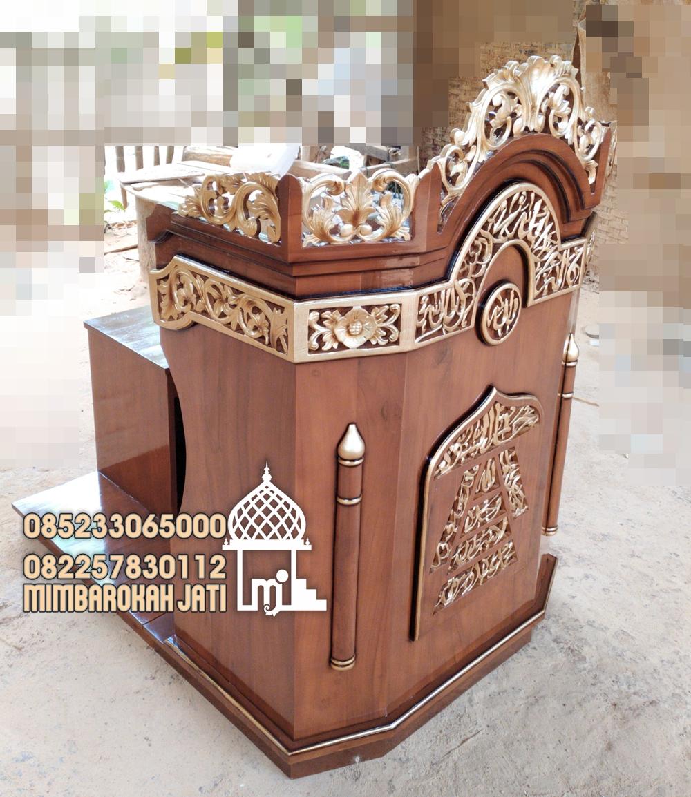 Mimbar Podium Ornamen Ukiran Masjid Kota Sleman
