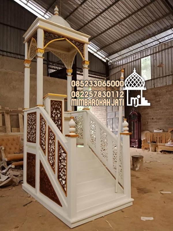 Mimbar Sunnah Ornamen CNC Masjid Daerah Temanggung