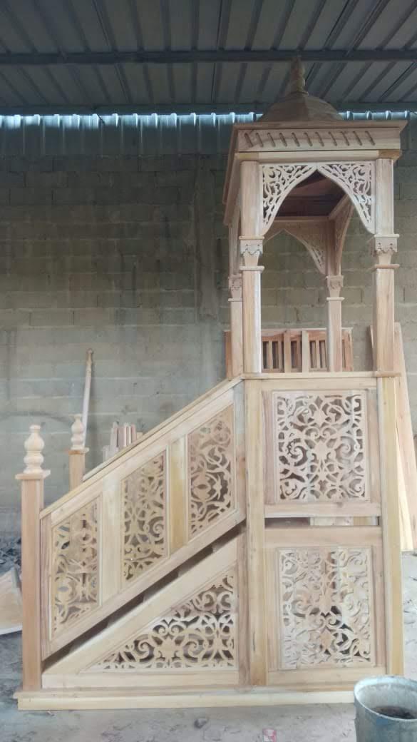 Mimbar Sunnah Ornamen GRC Masjid Besar Slawi