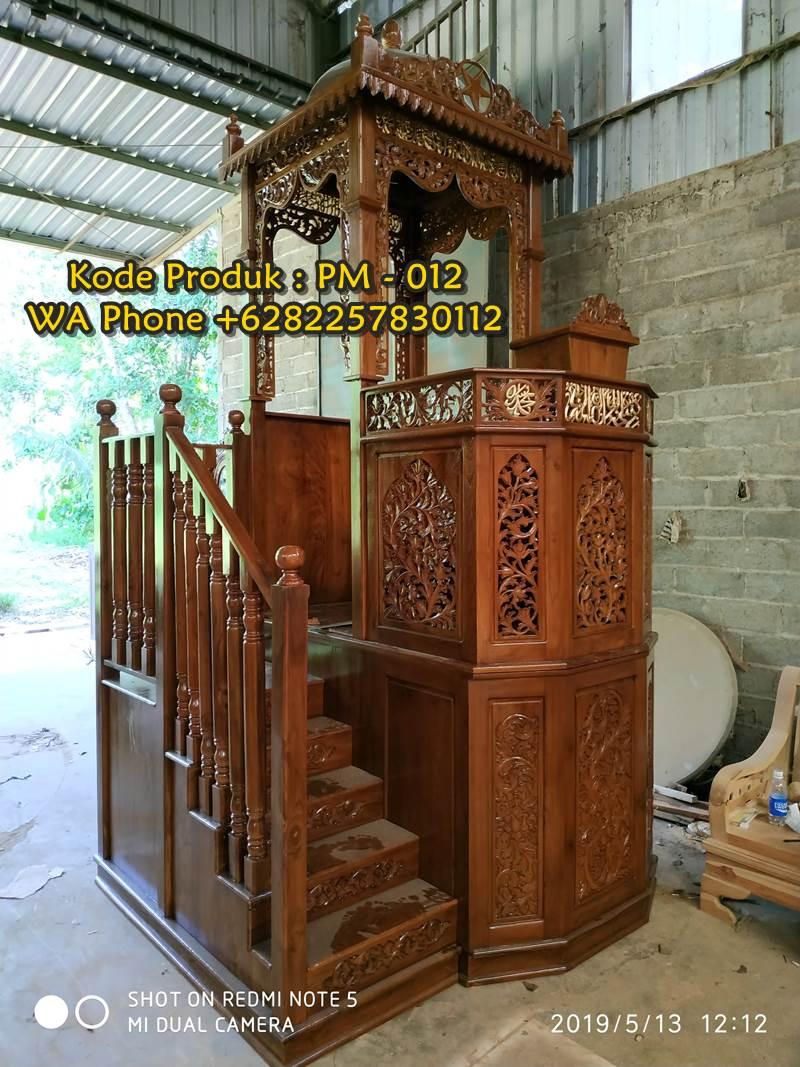 Mimbar Sunnah Ornamen GRC Masjid Wilayah Tangerang Selatan