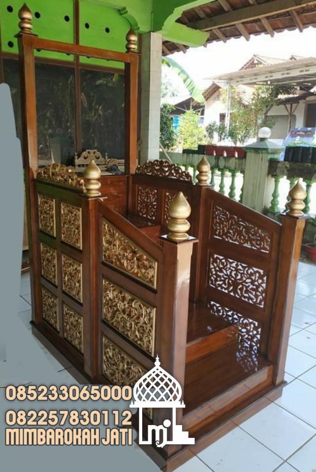 Mimbar Sunnah Ornamen Ukiran Masjid Besar Indramayu