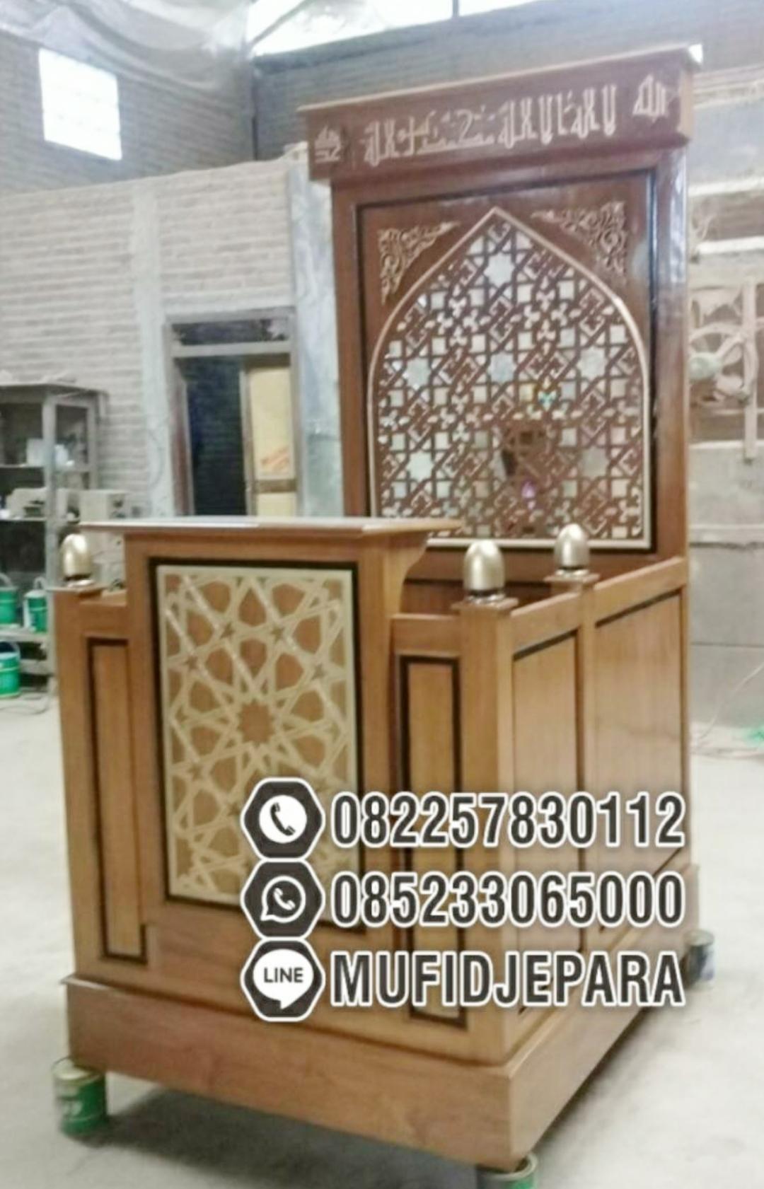 Podium Mimbar Ornamen Arabic Masjid Daerah Mojokerto