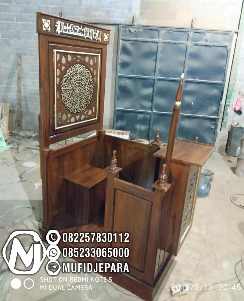 Podium Mimbar Ornamen Arabic Masjid Daerah Mungkid