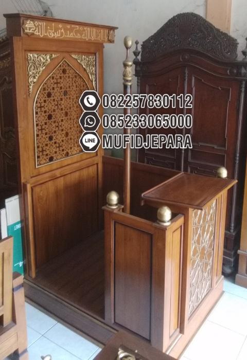 Podium Mimbar Ornamen Arabic Masjid Kota Lumajang