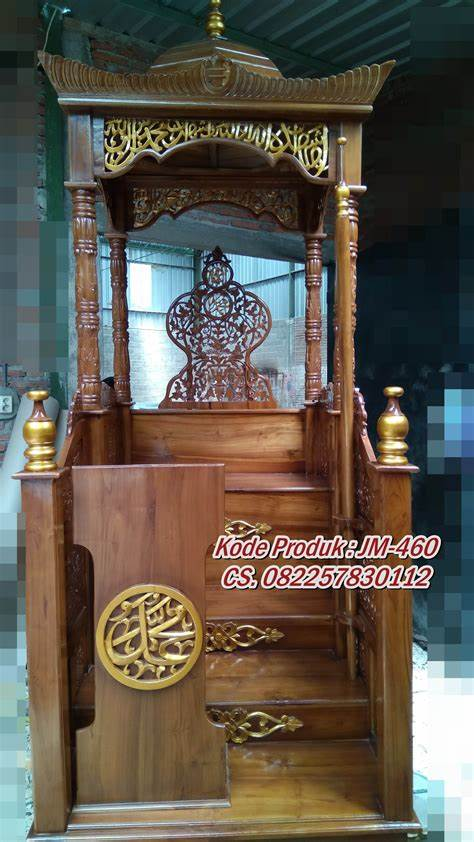 Podium Mimbar Ornamen GRC Masjid Daerah Sangatta