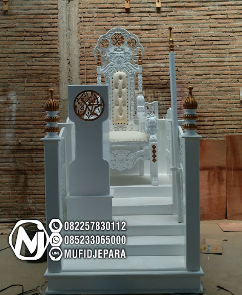 Podium Mimbar Ornamen Marocco Masjid Besar Banyumas