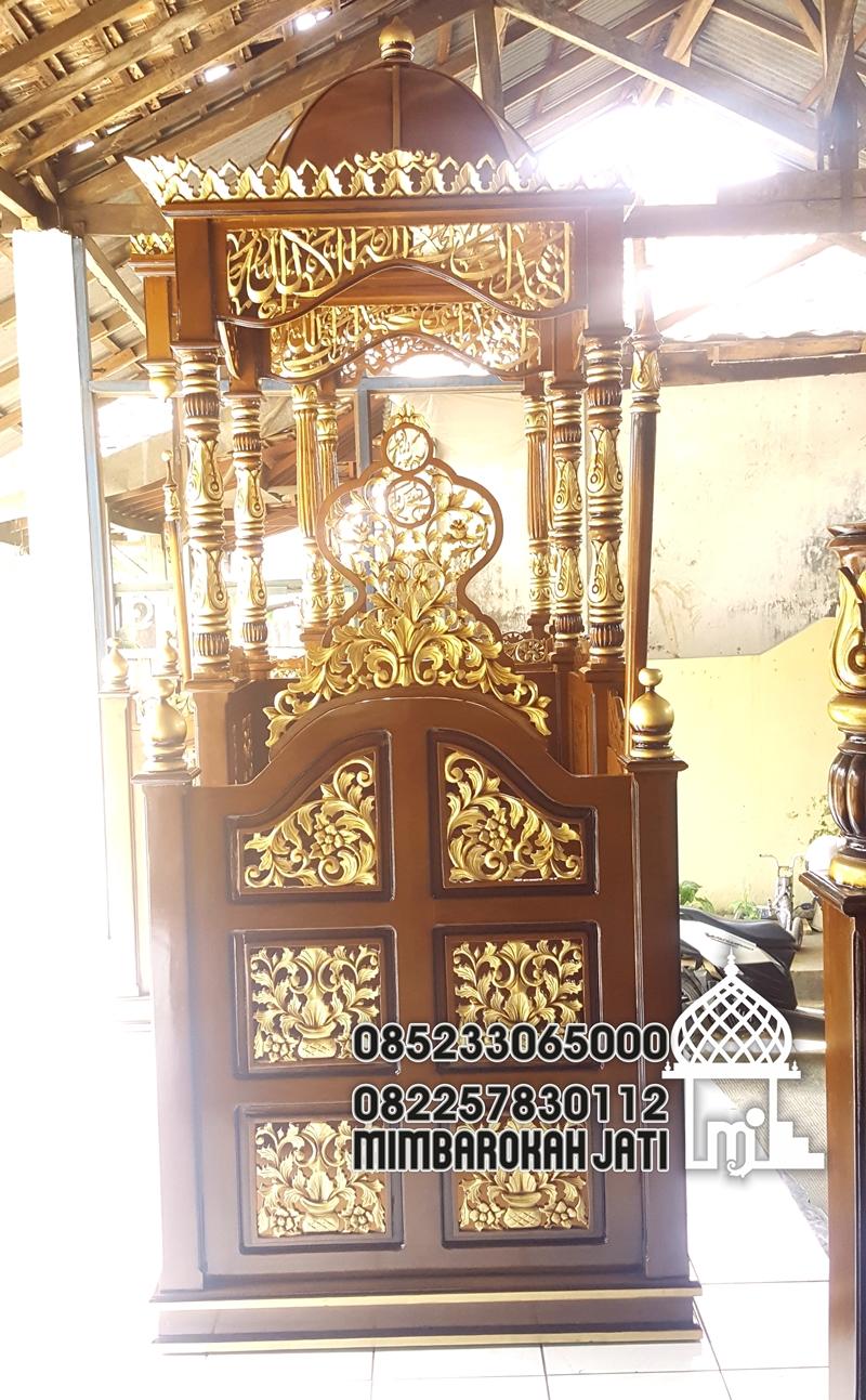 Podium Mimbar Ornamen Ukiran Masjid Agung Ponorogo