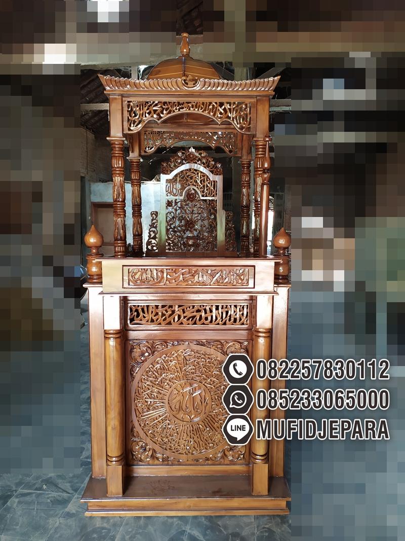 Mimbar Masjid Ornamen Ukiran Masjid Daerah Balikpapan