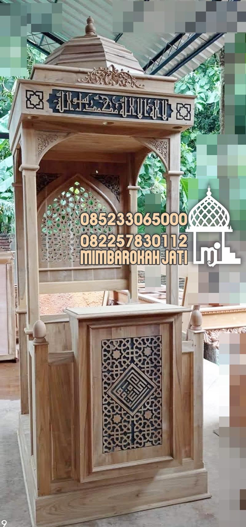 Mimbar Minimalis Ornamen CNC Masjid Besar Bandung Barat
