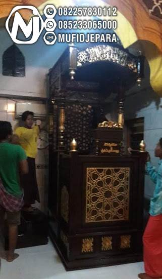 Mimbar Minimalis Ornamen Marocco Masjid Kota Kebayoran Baru