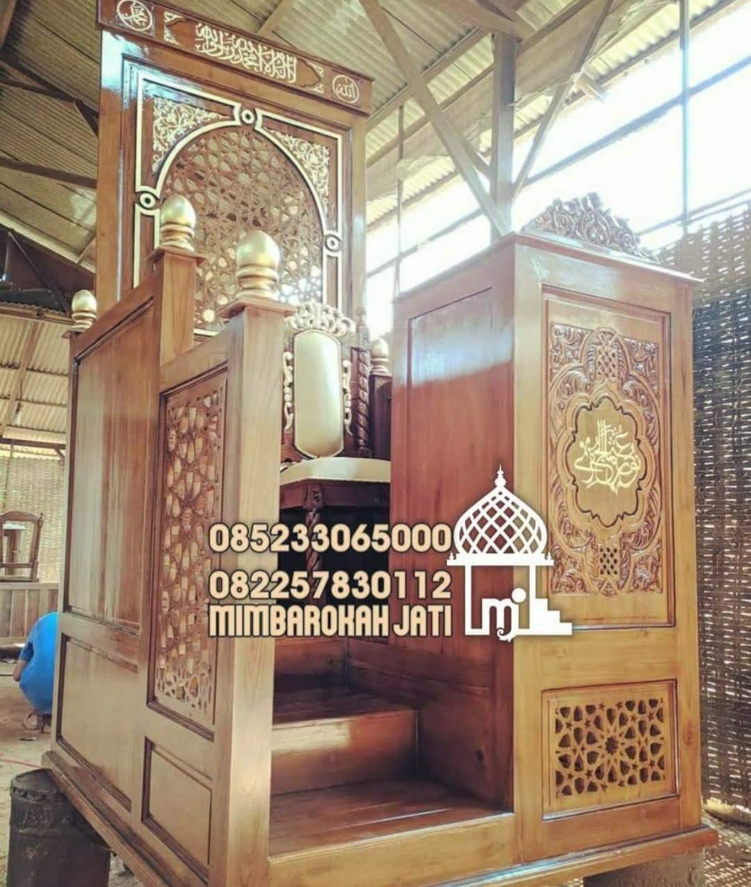 Mimbar Minimalis Ornamen Marocco Masjid Kota Singkawang