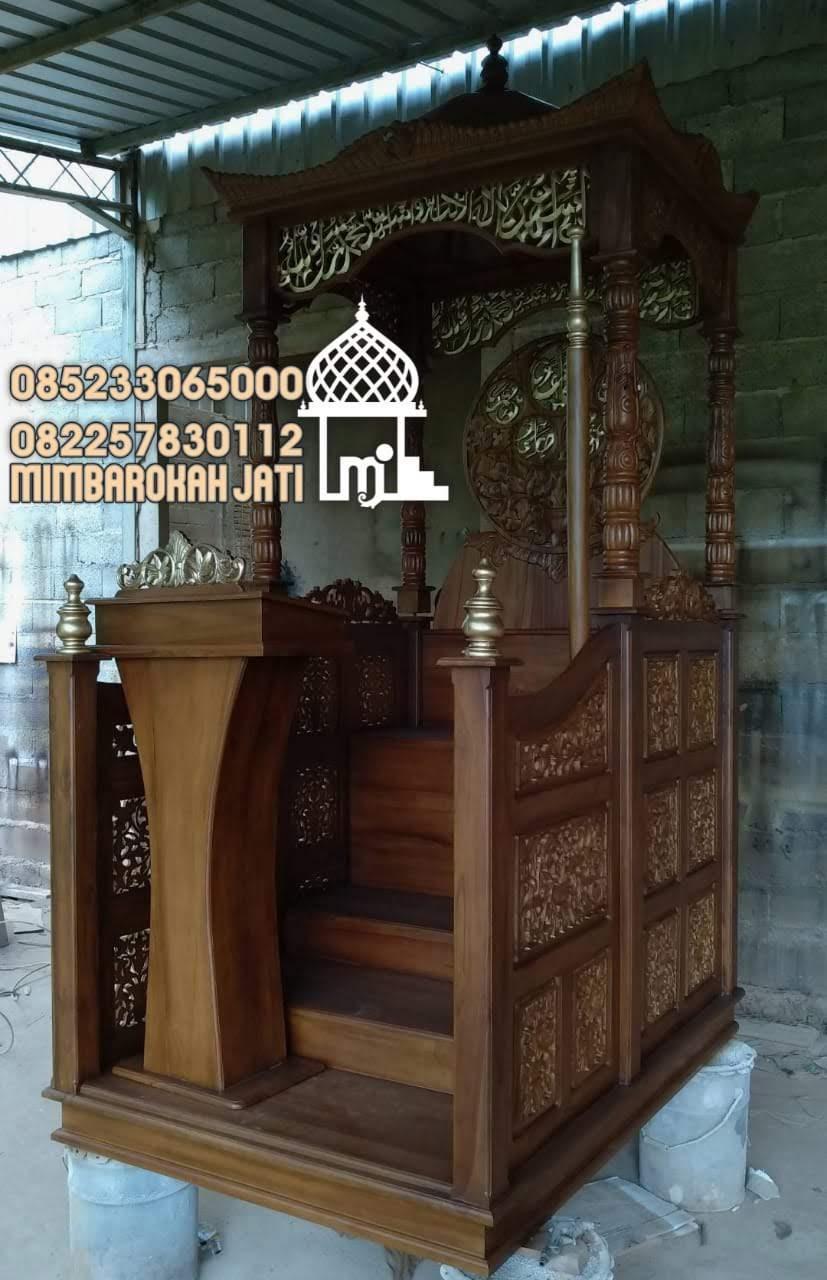 Mimbar Sunnah Ornamen Arabic Masjid Kota Sragen