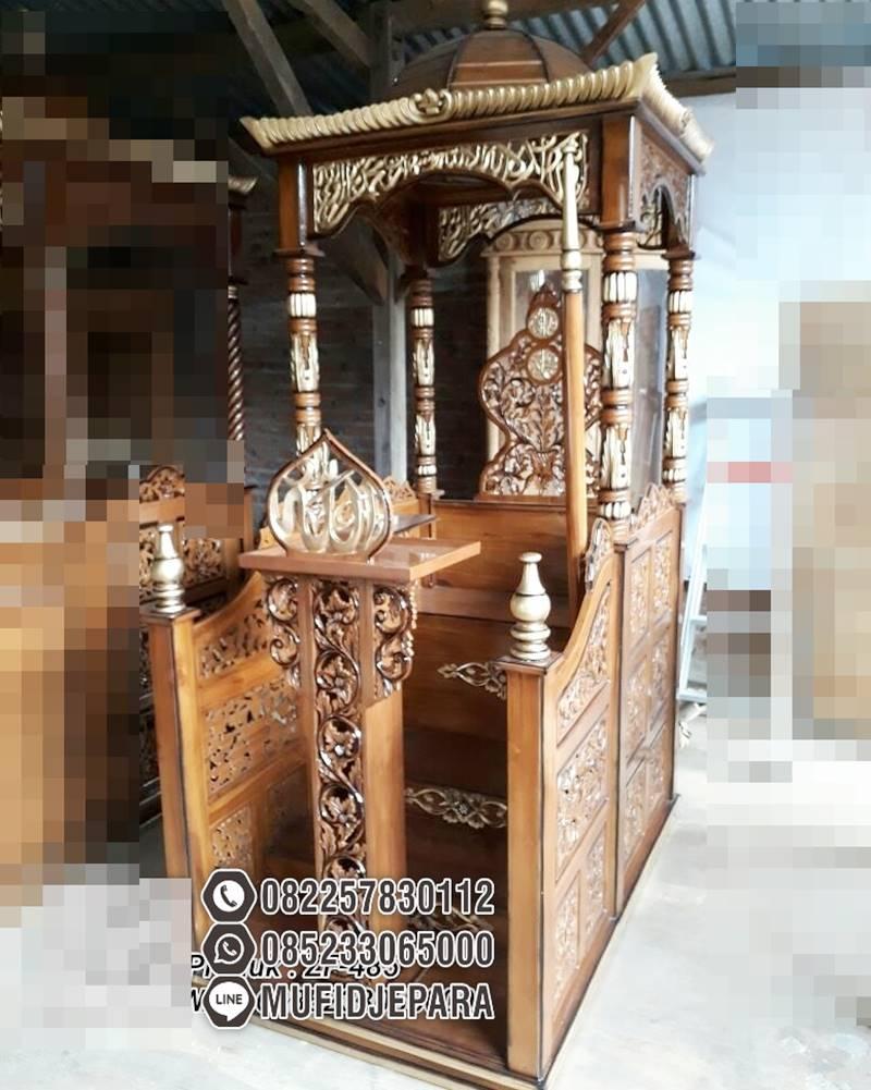 Mimbar Sunnah Ornamen Ukiran Masjid Agung Kebayoran Baru