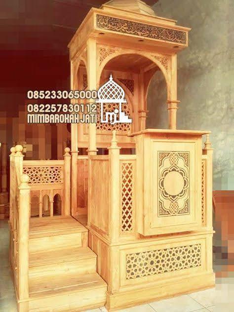 Mimbar Sunnah Ornamen Ukiran Masjid Besar Samarinda