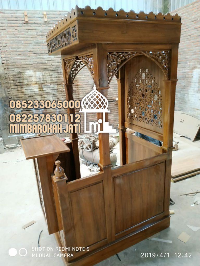 Mimbar Minimalis Ornamen Arabic Masjid Besar Bima