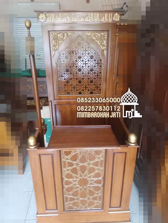 Mimbar Podium Ornamen GRC Masjid Wilayah Lamongan
