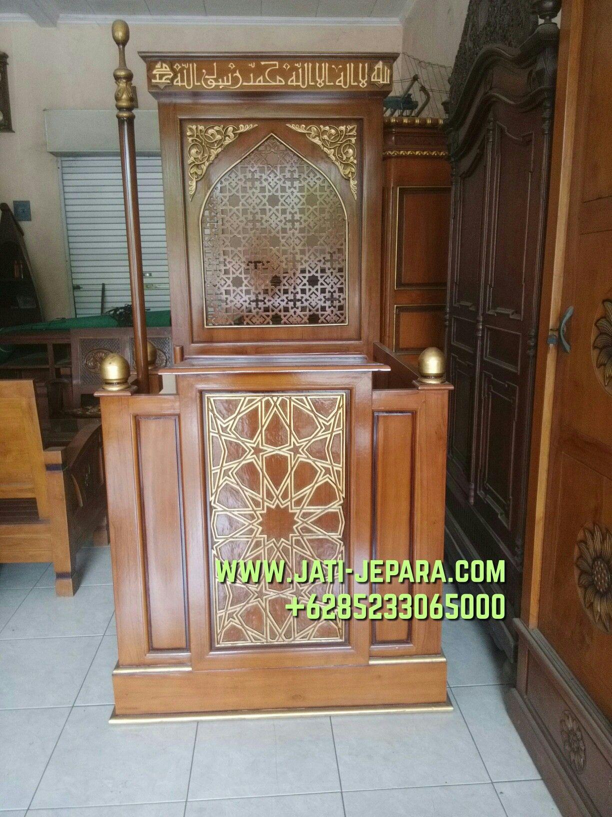 Mimbar Podium Ornamen GRC Masjid Wilayah Mojokerto
