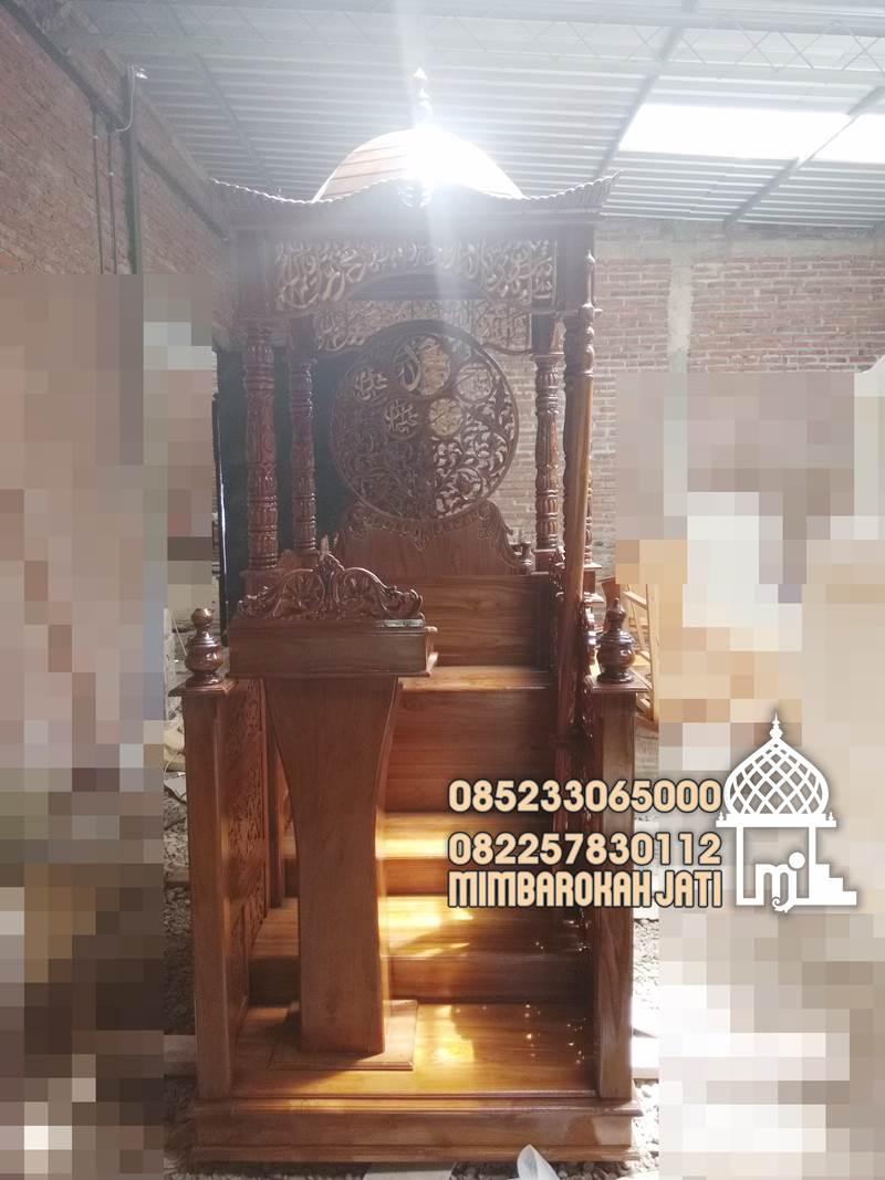 Mimbar Sunnah Ornamen Ukiran Masjid Kota Cilegon