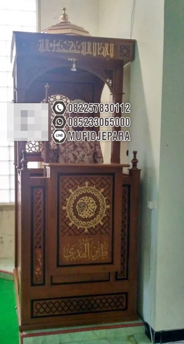 Podium Mimbar Ornamen Marocco Masjid Kota Batang